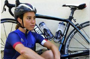 Audrey Merle, marraine du club Les Flammes Athlétiques Chamalières.